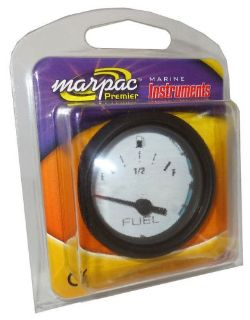 Sell Marpac Marine Boat Fuel Gauge - White with Black Bezel - 7-2025 motorcycle in Madison Heights, Michigan, United States, for US $17.25