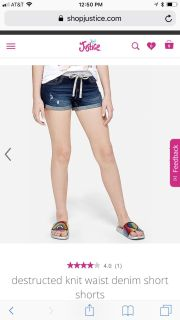 Looking for Justice jean shorts size 10 or 10s.