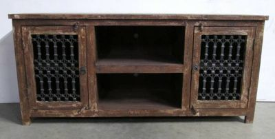 ON Sale Reclaimed Wood, Rustic TV STAND from India (Free Shipping Ganesha Home Furniture)