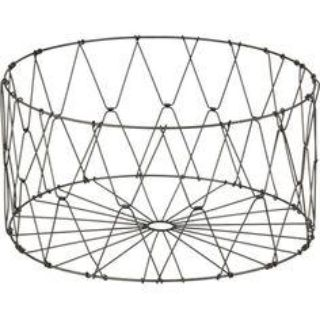 CB2 Metal Laundry Basket Collapsable