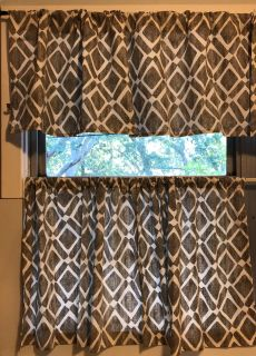 Kitchen curtains and valence. Sold as a set. I have 2 sets.