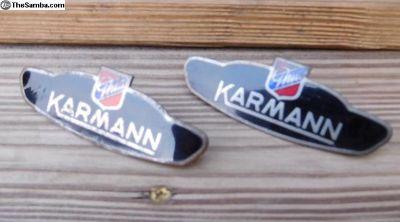 Pair of Ghia Front Fender Badges/Emblems