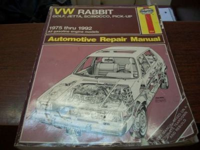 Purchase Haynes Repair Manual 884 VW Rabbit Golf Jetta Scirocco Pick-Up 1975-1992 motorcycle in Golden Valley, Arizona, United States, for US $6.57