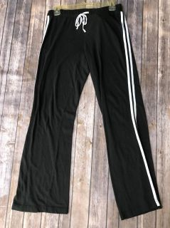 Large athletic pants. Black with white stripes. DNLA