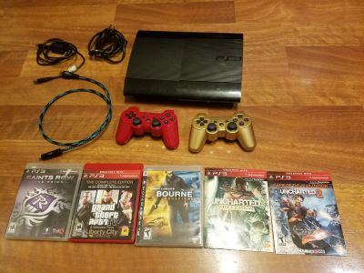 PS3 super slim 500gb and games