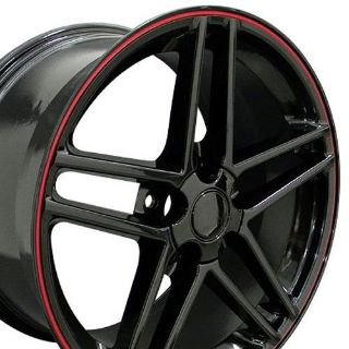 """Find One 18"""" Black C6 Style Wheel Red Line Fits Corvette Camaro SS Firebird TA B1W motorcycle in Sarasota, Florida, United States, for US $165.25"""