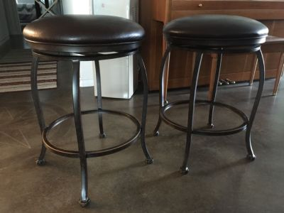 TWO New Swivel Bar Stools