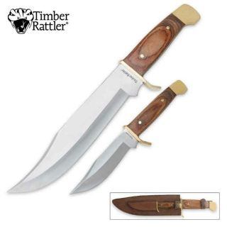 Timber Rattler Sequoia 2 Piece Bowie Knife Set TR90