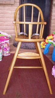 Antique Baby Doll High Chair with Foot Rest