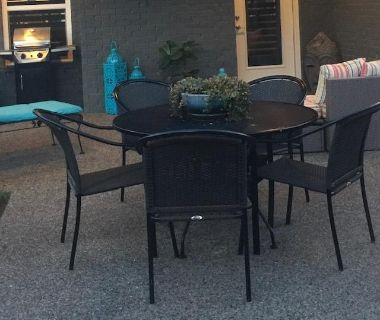Patio Dining Table & 5 Chairs