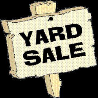 Yard Sale October 7 @ 7am