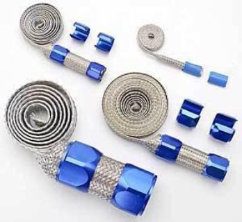 Find Wysco WA8558B Braided Hose Kit - Blue motorcycle in Delaware, Ohio, US, for US $55.99