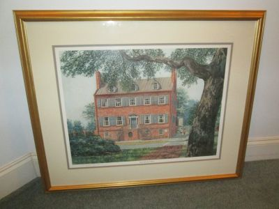 "William Sanders ""Isaiah Davenport House Signed Print Savannah Georgia"
