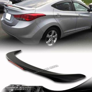Purchase For 11-14 Hyundai Elantra Black ABS Rear Trunk Spoiler Wing /LED 3rd Brake Light motorcycle in Rowland Heights, California, United States