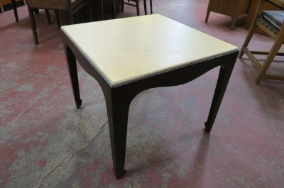 Vintage Mid century side table w/ grass cloth top