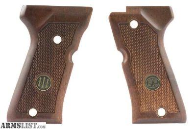 For Sale: Beretta 92FS Compact Factory Original Wood Grips PB medallions