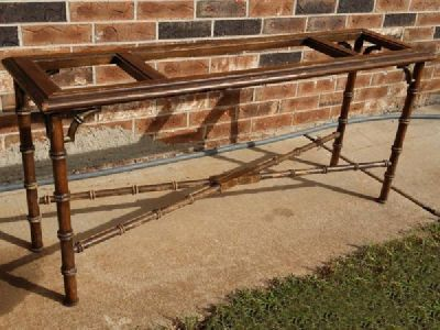 Vintage LANE Hollywood Regency Faux Bamboo Sofa Table