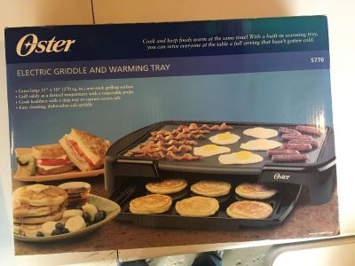 Oster electric griddle and warming tray