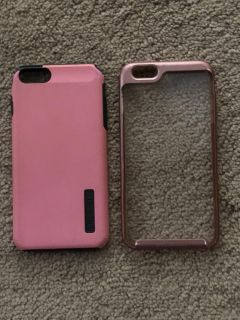 2 iPhone 6S Plus cases bothe with some wear and tear but still have a lot of life left-price for both