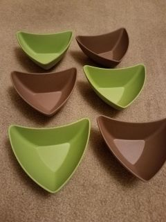 SET OF 6, BOAT BOWLS, EXCELLENT CONDITION, SMOKE FREE HOUSE