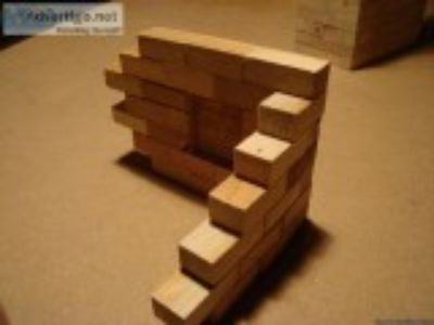 Adult wood building blocks