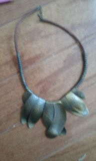 Pewter necklace from Mexico