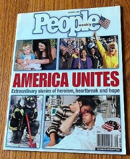 People Weekly Magazine October 1, 2001 America United 9/11 World Trade Center