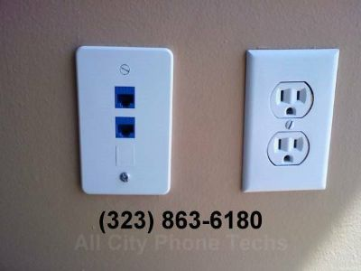 ►TELEPHONE JACKS , SPECTRUM & UVERSE Internet Installation