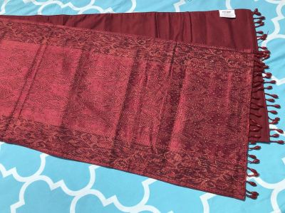New! Red Moroccan Print Table Runner (Item 56). $12