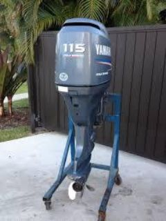 Used Yamaha 115HP 4 Stroke Outboard Motor Engine