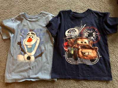 2 boys Disney store size 7/8 shirts $4.00 for both. Located in Bethlehem. Cross posted.
