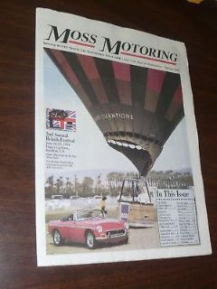 Purchase Moss Motoring Spring 1994 Newspaper Catalog 2nd Annual British Festival motorcycle in Union City, California, US, for US $13.00