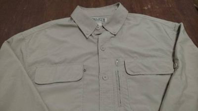 Duluth Trading Vented Men's Long Sleeve Outdoor Shirt Large Tan