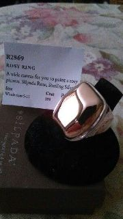 Silpada Rosy Ring Size 11