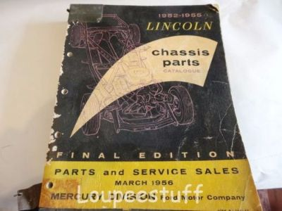 Buy 1952 - 55 LINCOLN CHASSIS PARTS CATALOG 433 PGS. LH430 motorcycle in Camdenton, Missouri, United States