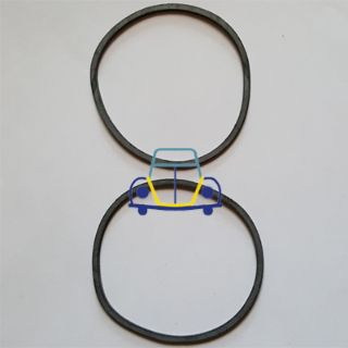 Ghia Front Signal Ring-To-Lens Gasket, Pair. 59/64