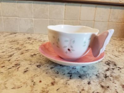 Butterfly Meadow Pink Cup and Saucer