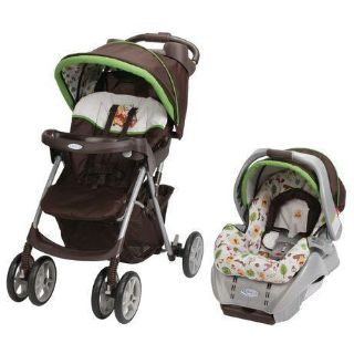 Graco stroller with bucket car seat