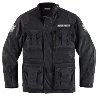 Purchase Icon 1000 Beltway Jacket Resin Black motorcycle in Holland, Michigan, United States, for US $600.00