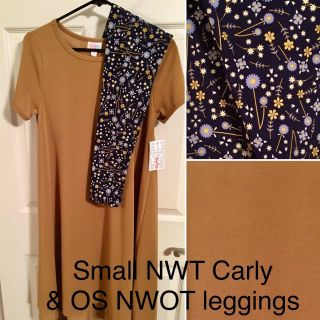 LuLaRoe outfit: Small Carly & OS leggings NEW!!