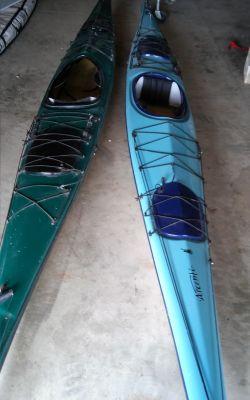 Two Seaward Ascente' Ocean Kayaks