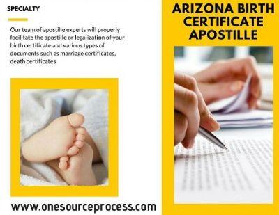 Arizona birth certificate apostille service you'll love