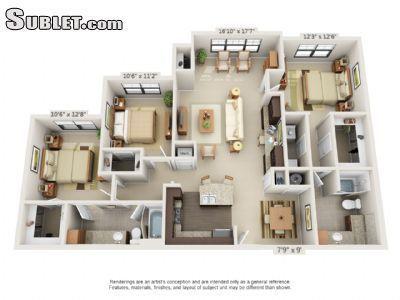 Three Bedroom In Murfreesboro