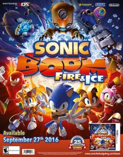 Sonic Boom Fire And Ice GameStop Expo 2016 SEGA 25th Exclusive Poster Nintendo 3DS