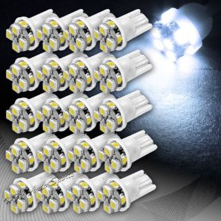 Purchase 20x White SMD 8 LED T10 Interior Courtesy License Plate Wedge Light Lamp Bulbs motorcycle in Walnut, California, United States