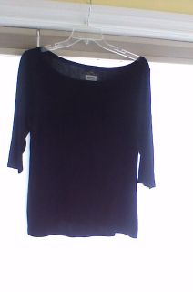 Old Navy 3/4 Sleeve Black T-Shirt, w/small pocket on front left side