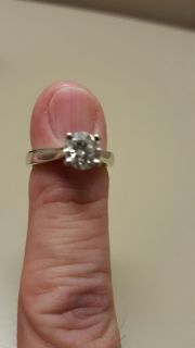 18 kt White Gold Round Cut 1 Carat Masterpiece Helzberg Diamonds Engagement Ring