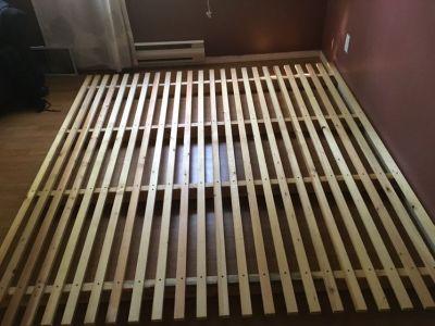 King size wood bed frame