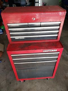 CRAFTSMAN TOOL BOX WITH TOOL