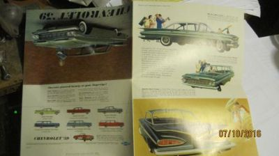 Find 1959 Chevrolet Dealer Sales Brochure Impala motorcycle in Shawnee, Kansas, United States, for US $20.00